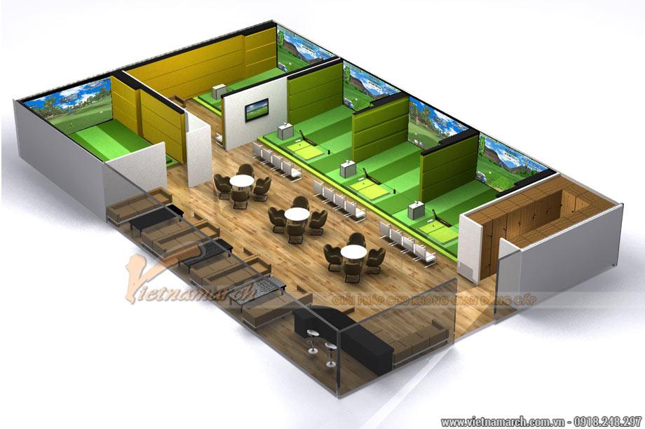 Thiết kế phòng tập Golf 3D trong nhà