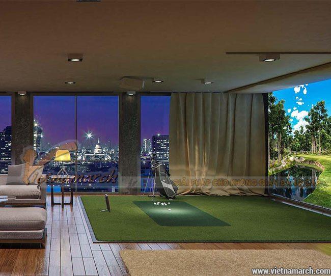 Mẫu thiết kế phòng tập Golf 3D trong nhà