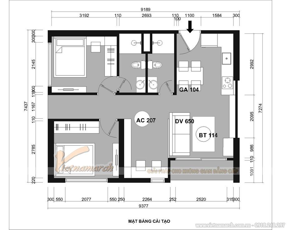 Thông tin dự án thiết kế nội thất chung cư 55m2 Vinhomes Ocean Park