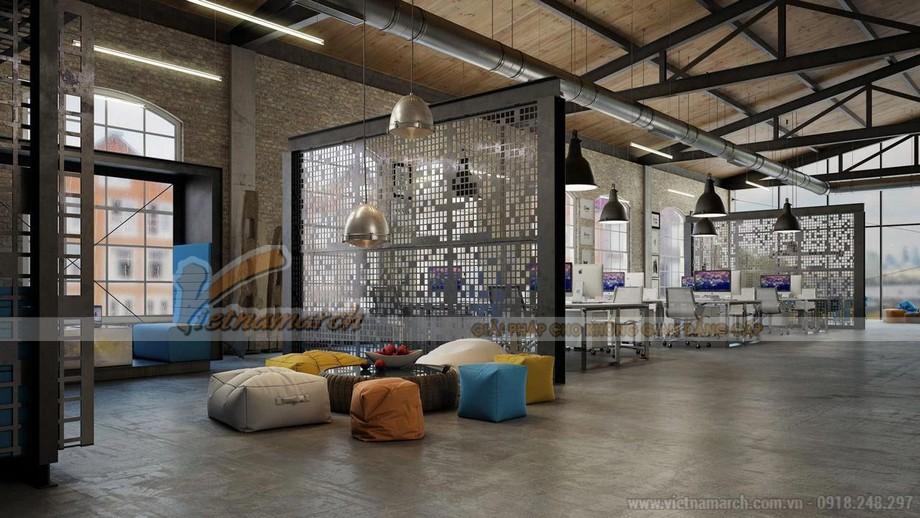 Thiết kế văn phòng ở Đà Nẵng phong cách công nghiệp