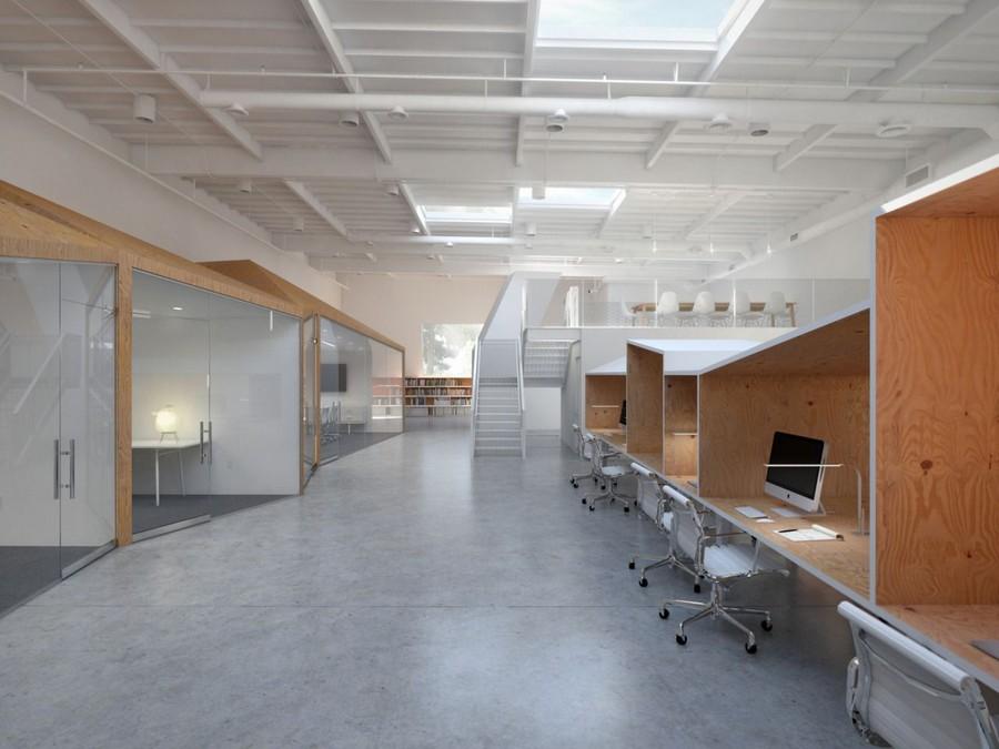 Hình ảnh văn phòng thiết kế theo xu hướng mới với vách ngăn