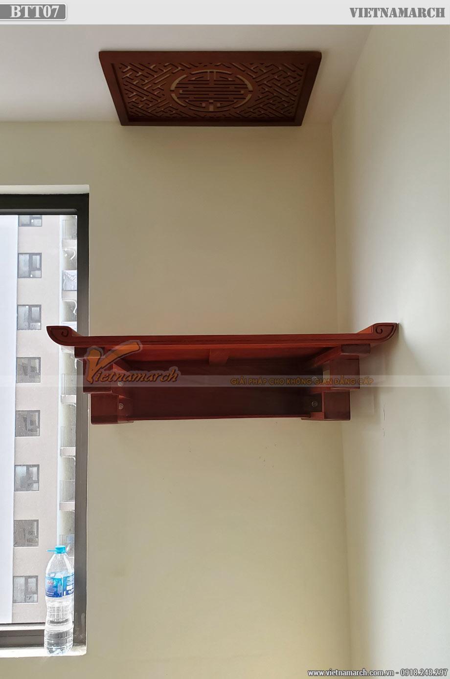 Mẫu bàn thờ treo gỗ hương 59x97cm