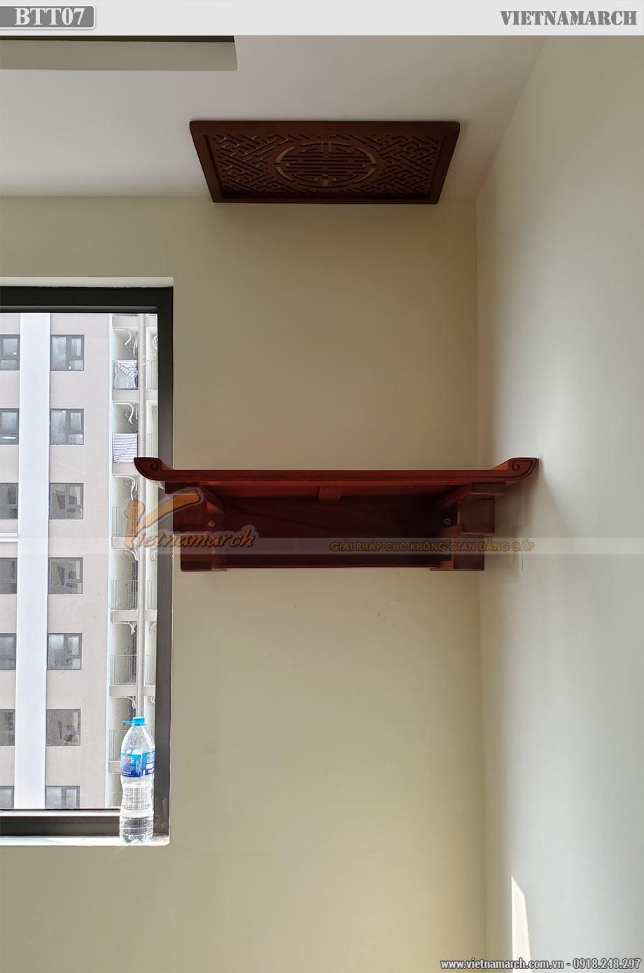 Mẫu bàn thờ treo gỗ hương cho chung cư IEC Thanh Trì