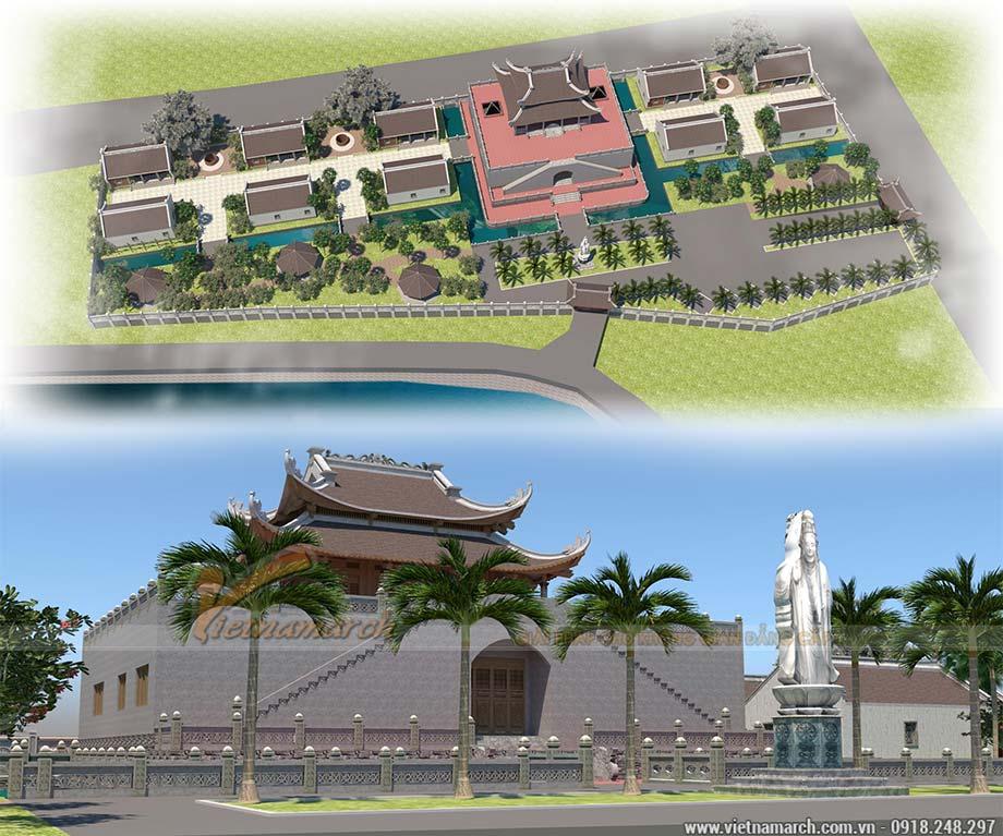 Bản vẽ thiết kế đình chùa đẹp tại thanh Hóa