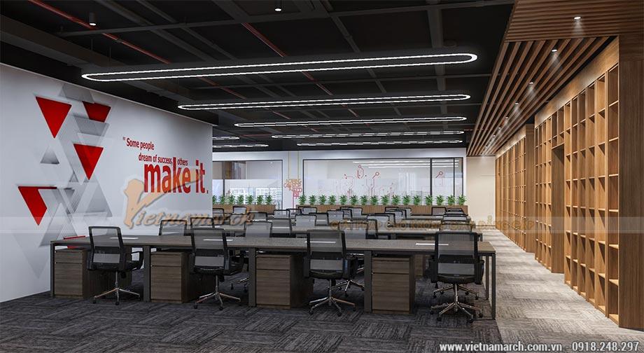 Thiết kế nội thất văn phòng 250 chỗ ngồi