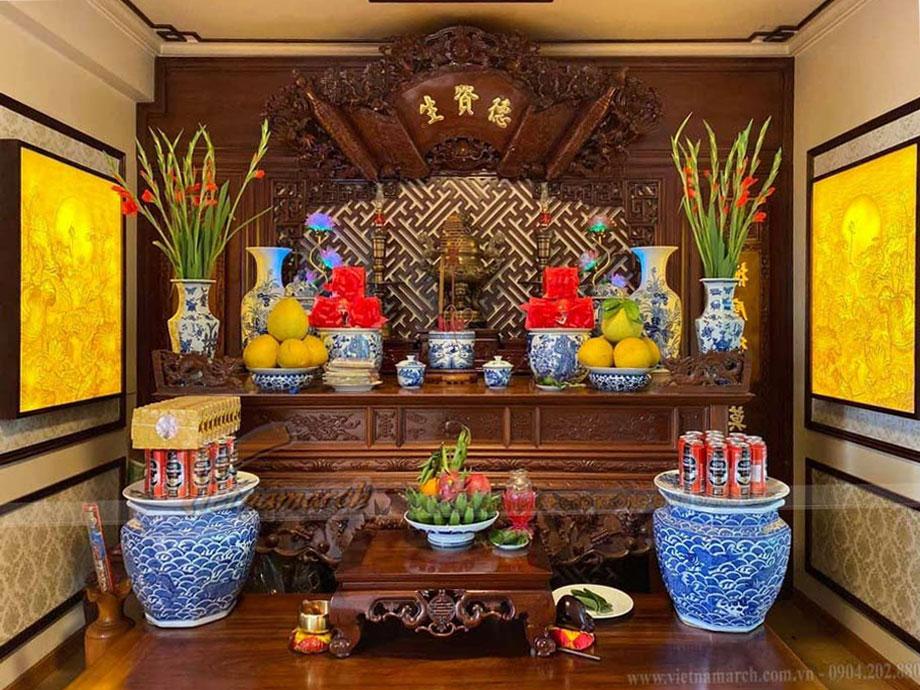Các mẫu phòng thờ đẹp theo kiểu truyền thống