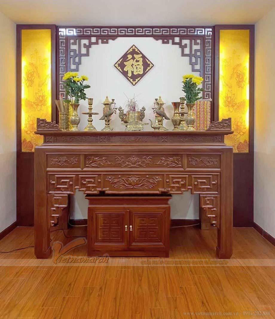 mẫu phòng thờ đẹp cho gia chủ mệnh Kim chuẩn phong thủy