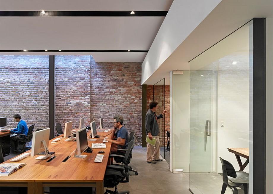 Góc làm việc hiện đại trong không gian làm việc chung
