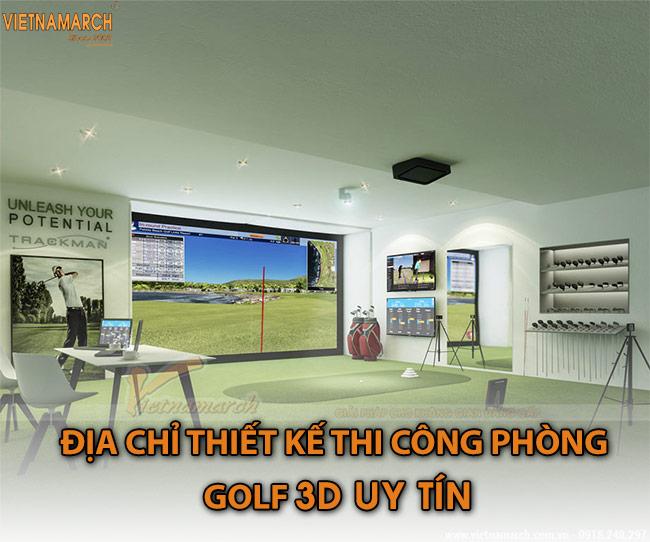 Địa chỉ thiết kế thi công phòng golf 3D