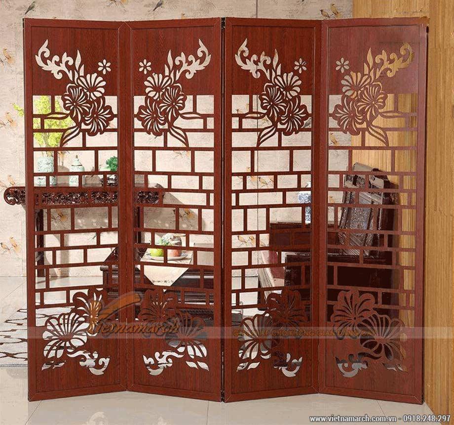 Cách hóa giải bàn thờ xung với cửa bằng sử dụng bình phong
