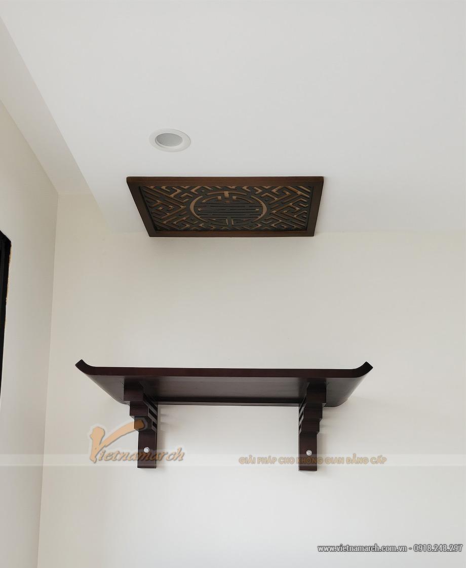 Mẫu bàn thờ treo cho phòng khách chung cư Tây Hồ Riverview - BTT05
