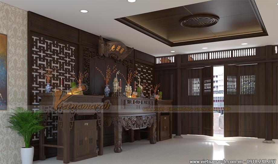 Mẫu nhà thờ gia đình 6x5m bằng gỗ lim Châu Phi