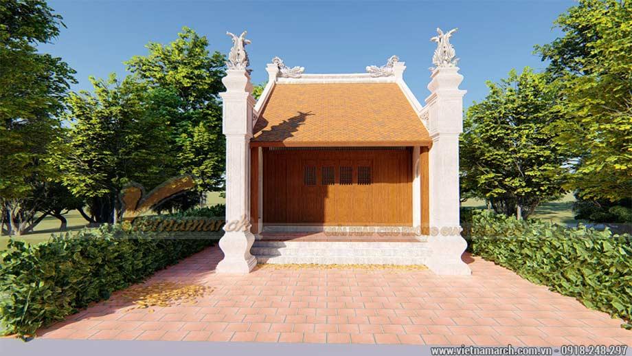Mẫu nhà thờ gia đình 6x5m bằng gỗ lim Châu Phi trong nhà phố giữa lòng thủ đô
