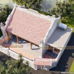 Mẫu thiết kế nhà thờ họ Ngô 73m2 tại Lapạ Trạch Vĩnh Phúc