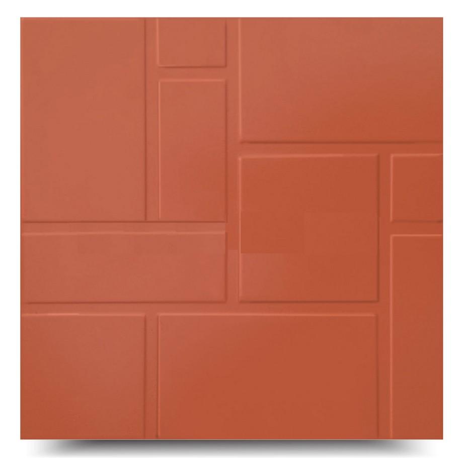 Mẫu gạch đỏ lát nền trơn màu đậm hợp lát sân vườn từ đường