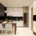Thiết kế nội thất bếp và phòng ăn chung cư Vinhomes Ocean Park