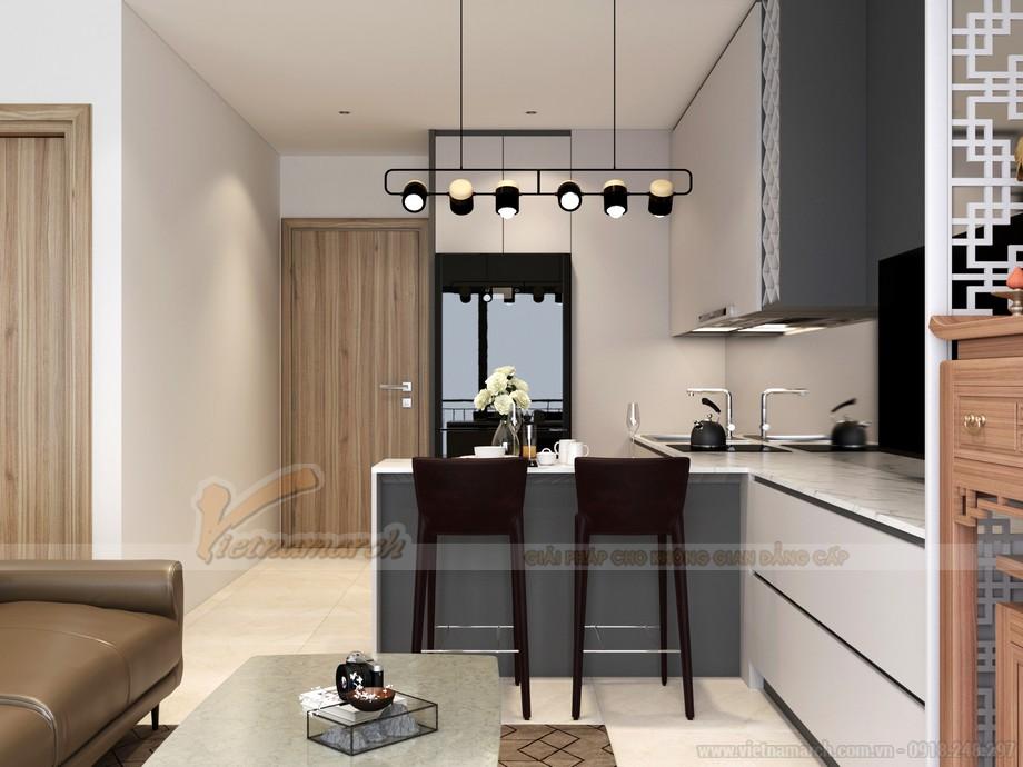 Phối cảnh nội thất không gian bếp