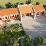 Mẫu thiết kế nhà thờ họ 3 gian 2 mái tại Hưng Yên
