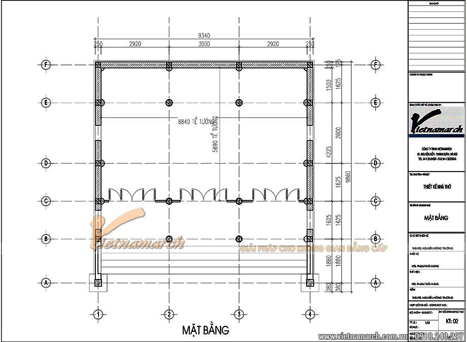 Thiết kế nhà ở kết hợp nhà thờ 3 gian 2 mái tại Hưng Yên