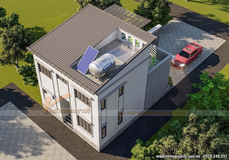Mẫu thiết kế nhà ống 2 tầng 3 phòng ngủ 1 phòng thờ tại Thái Bình