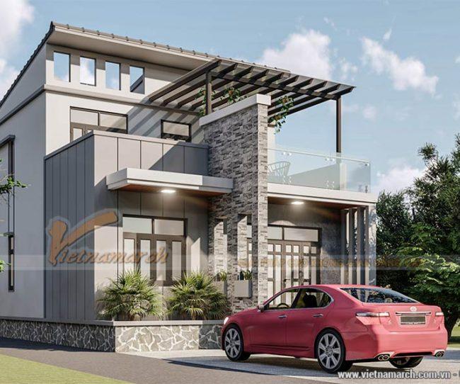 Dự án thiết kế nhà ống 2 tầng 3 phòng ngủ 1 phòng thờ tại Thái Bình