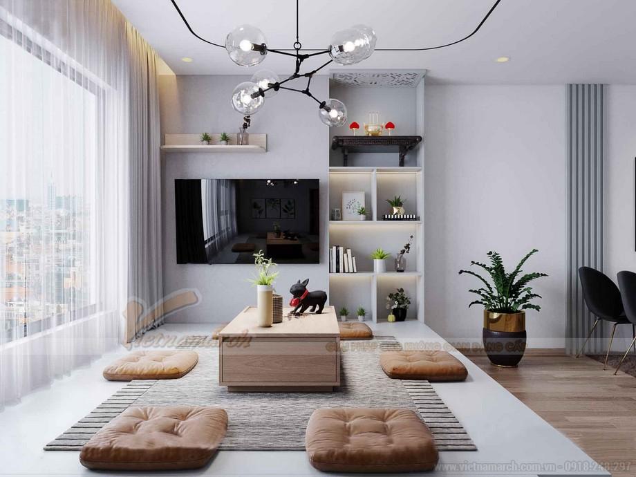 Thiết kế phòng khách chung cư IA20 Ciputra