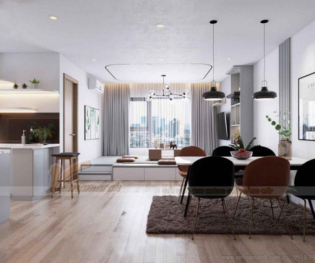 Thiết kế nội thất chung cư IA20 Ciputra Tây Hồ 2 phòng ngủ