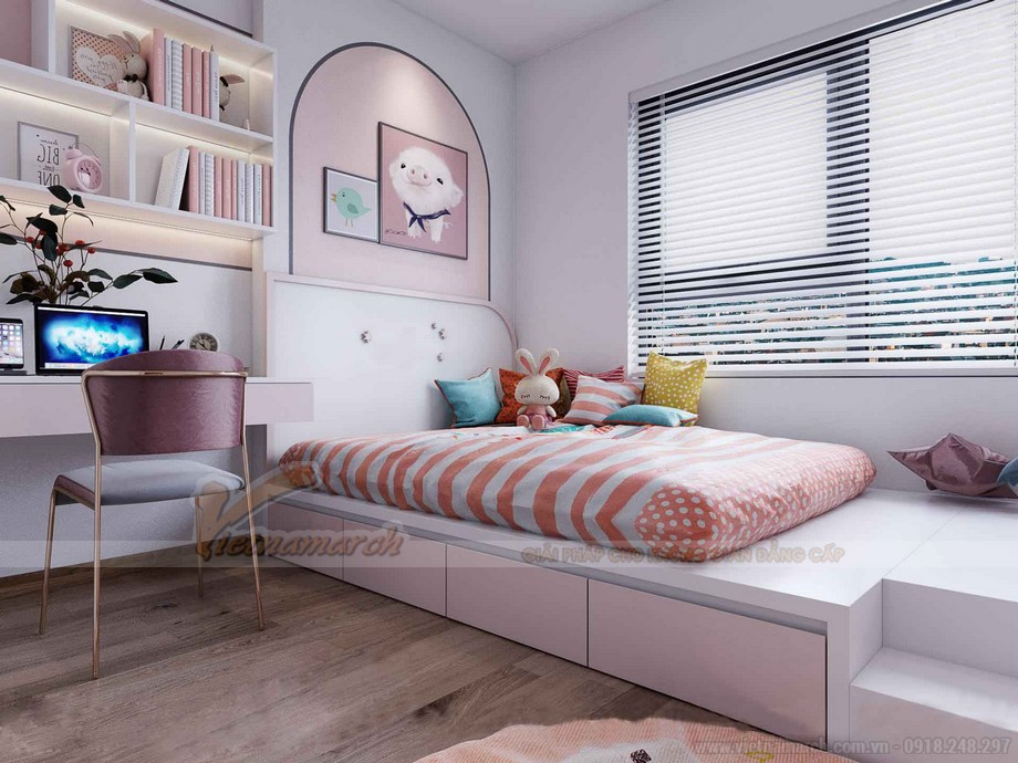 Thiết kế phòng ngủ chung cư 92m2