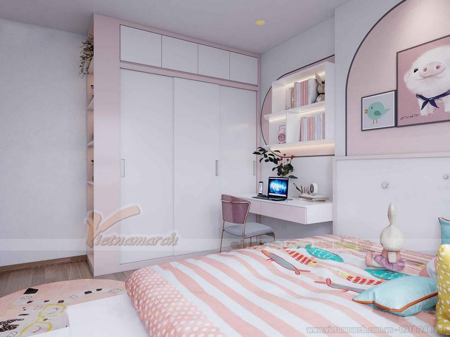 Thiết kế phòng ngủ bé gái chung cư IA20 Ciputra