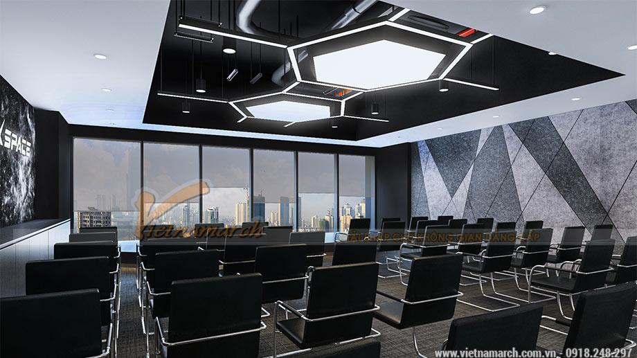 Bản vẽ 3D thiết kế văn phòng 2100m2