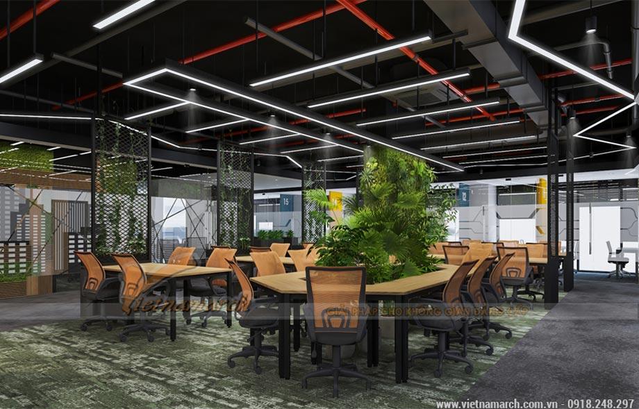Thiết kế văn phòng 2100m2 tại Định Công - Coworking space Cen X space