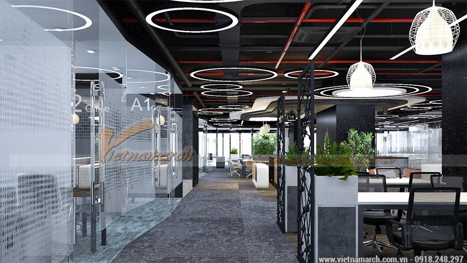 Thiết kế coworking space 2100m2 tại định công