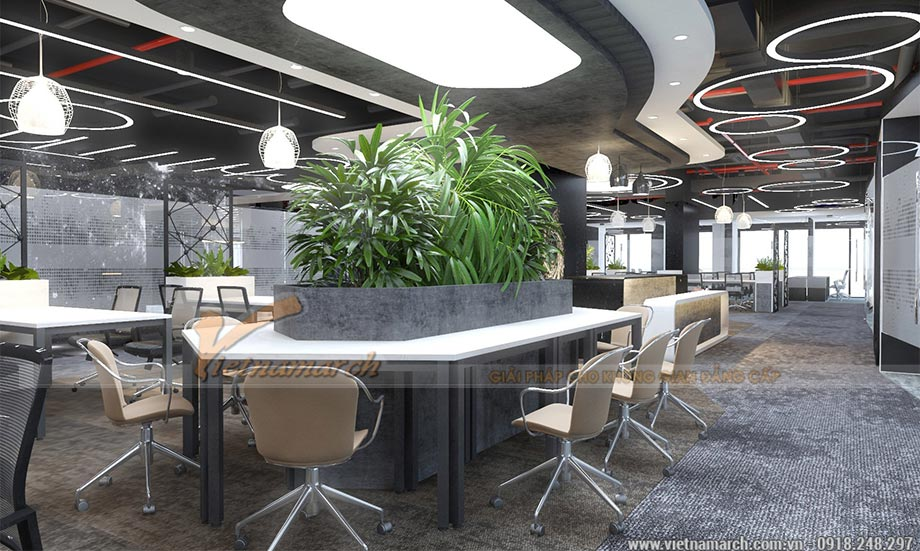 Thiết kế văn phòng tại Hoàng Mai