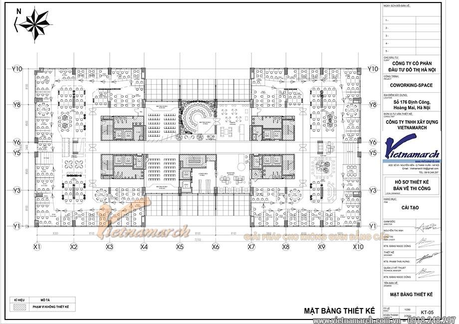 Bản vẽ thiết kế mặt bằng văn phòng 2100m2
