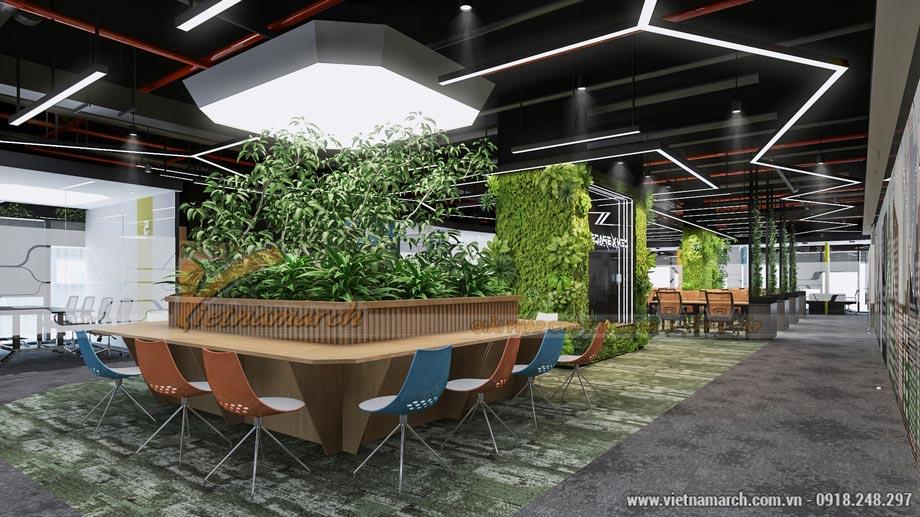 Thiết kế văn phòng coworking space hiện đại tại quận Hoàng Mai