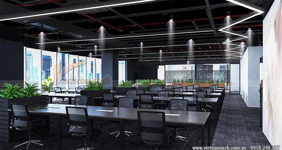 Thiết kế văn phòng 950m2 cho tập đoàn Viettel tại Cầu Giấy