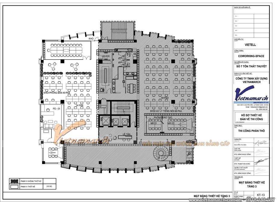 Thiết kế văn phòng làm việc 950m2