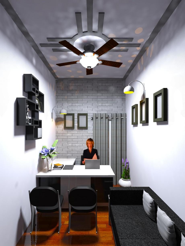 Thiết kế văn phòng 10m2 thể hiện dấu ấn cá nhân