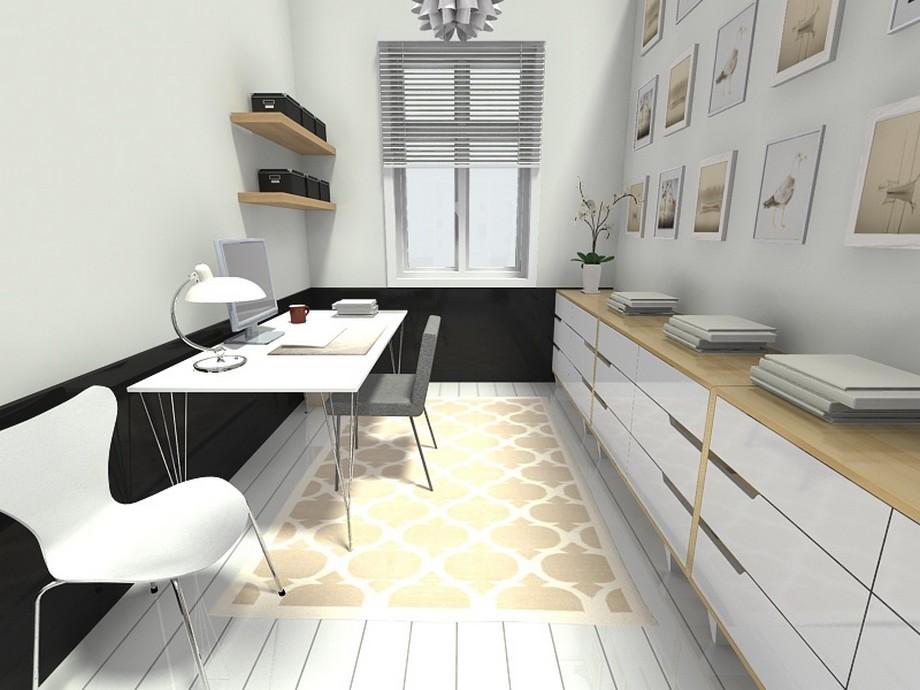 mẫu thiết kế văn phòng 10m2 nhỏ xinh đơn giản và thanh lịch