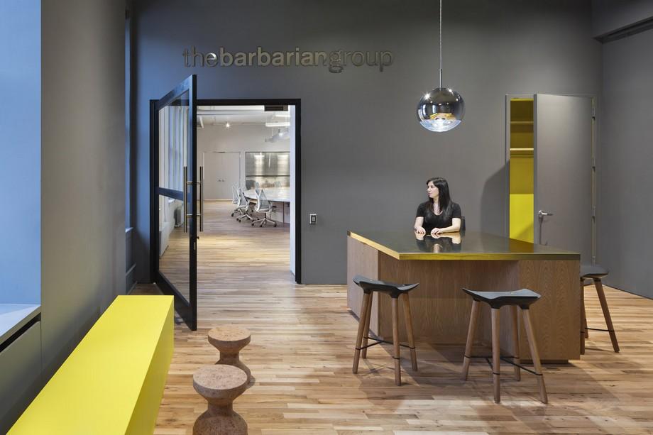 Thiết kế lối vào văn phòng đơn giản hiện đại