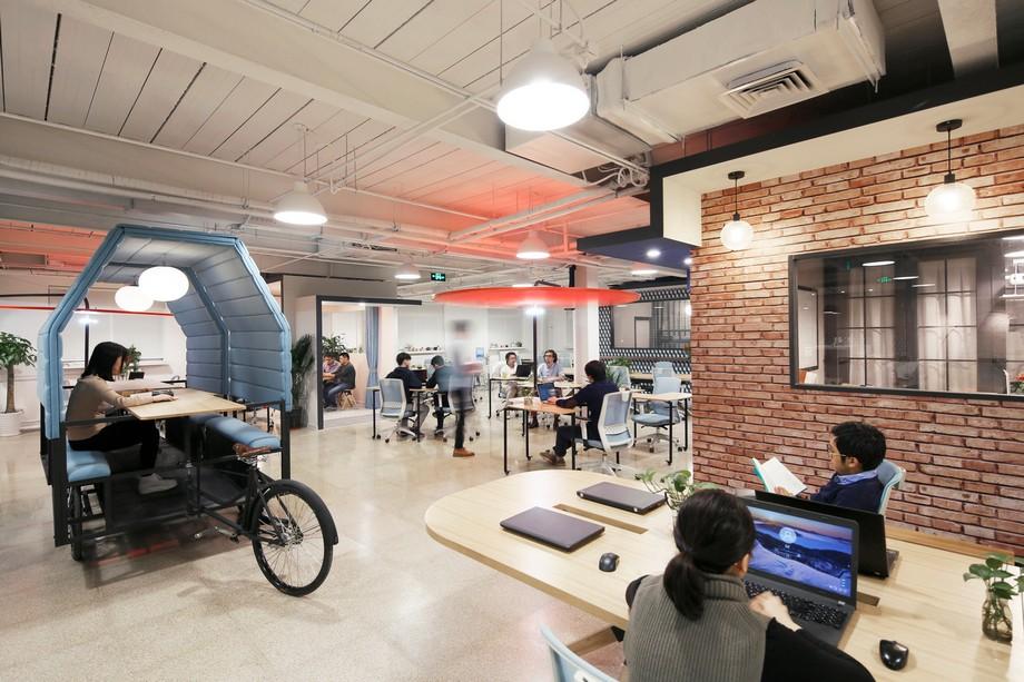 Thiết kế khu vực làm việc riêng tư trong văn phòng