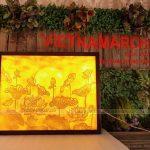 Tranh trúc chỉ hoa sen mặt trời lắp đặt cho chung cư Vinhomes Ocean Park