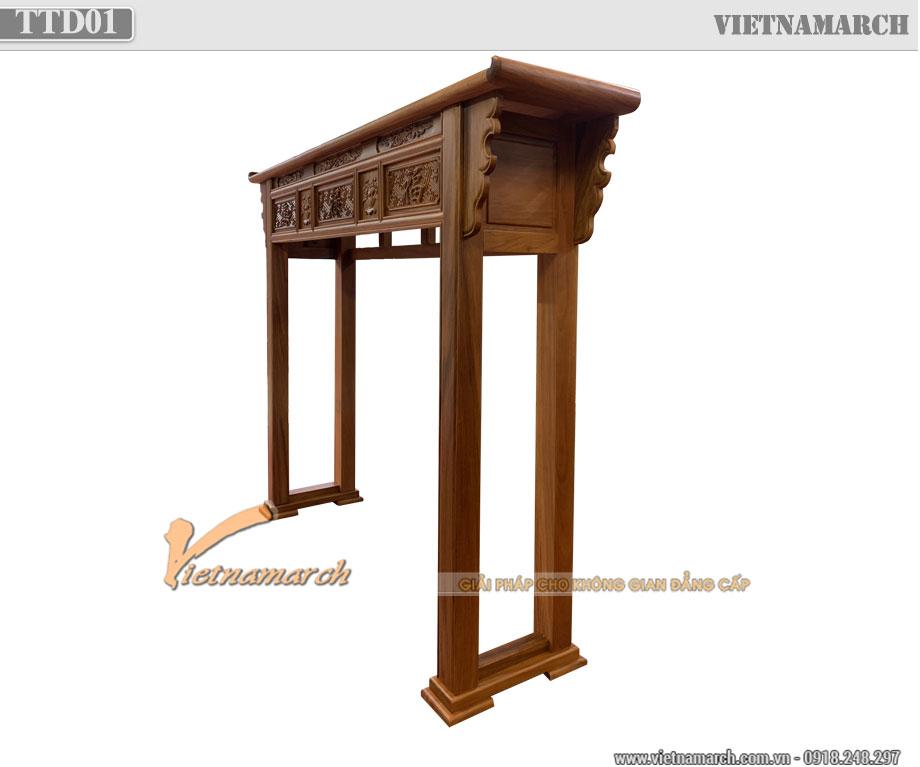 Tủ thờ nhị cấp gỗ gõ