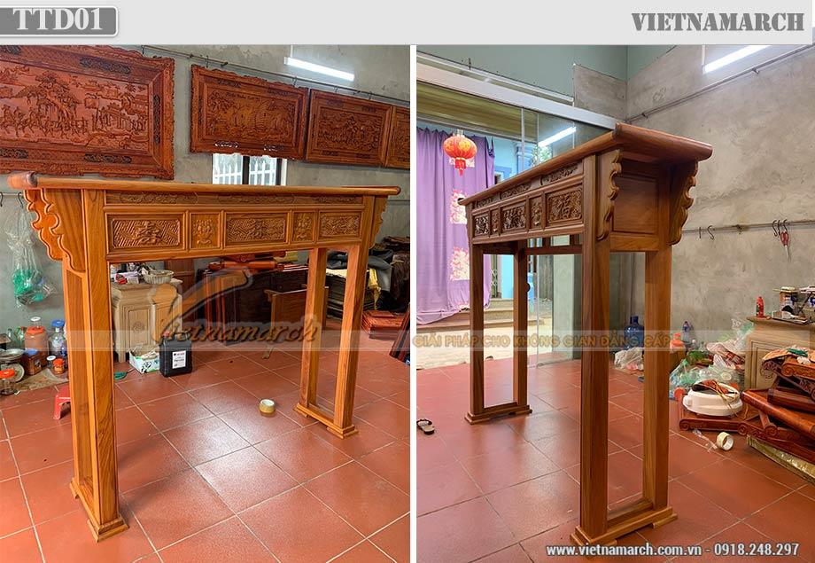 Tủ thờ hai tầng bằng gỗ gõ tại Hồ Chí Minh