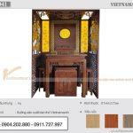 Bàn thờ đứng 1m17 gỗ gụ lắp đặt tại chung cư Hà Nội Homeland Long Biên – BTD41