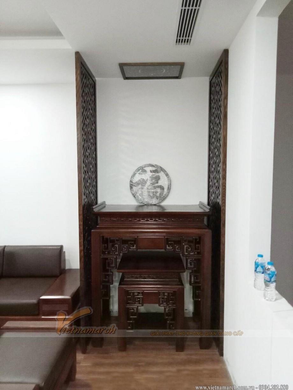 Mẫu bàn thờ chung cư gỗ gụ Lào tại quận Bắc Từ Liêm – BTD38