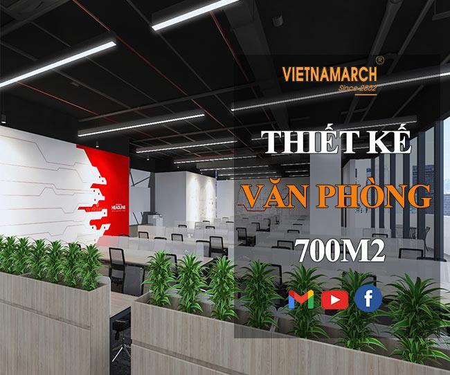 Mẫu thiết kế nội thất văn phòng 700m2