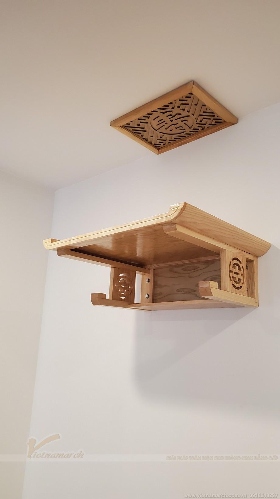 Thông tin về mẫu bàn thờ lắp đặt cho nhà chung cư anh Mạnh tại Vinhomes Green Bay