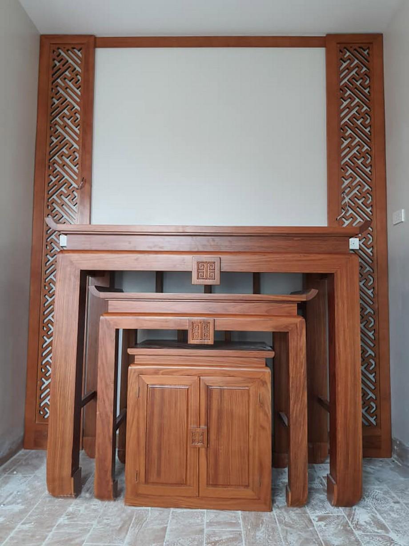 Bàn thờ đứng gỗ Gõ cho chung cư tại Vietnamarch đa dạng thiết kế, mẫu mã