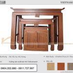 Lắp đặt bàn thờ hiện đại 3 món gỗ Gõ đỏ cao cấp – BTD37